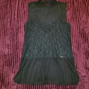 Mblm sheer and lace top